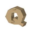 letter q stone font rock alphabet symbol stones vector image