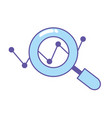 magnifying glass tool and search symbol vector image