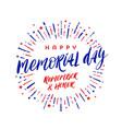 memorial day handwritten lettering vector image