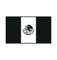 mexico flag monochrome on white background vector image