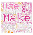 Mommy Make Over text background wordcloud concept vector image vector image
