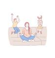 motherhood psychological balance concept vector image