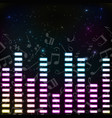 music colored background vector image vector image
