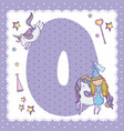 o alphabet letter for kids vector image vector image