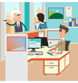 Office Life Office Interior with Workers vector image