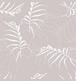 palm leaves on beige background