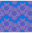 Pattern of lilac flowers in striped vector image vector image
