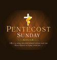 pentecost sunday card vector image vector image
