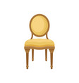 retro soft chair comfortable furniture element vector image vector image