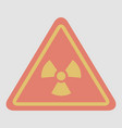 road sign with an radioactive symbol vector image vector image