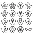 sakura icons isolated on a white background vector image vector image