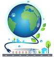 save world2 vector image vector image