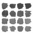 set gray watercolor stains on white vector image vector image