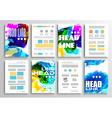 Set of Flyer Design Infographics Brochure Designs vector image vector image