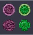 set signs symbol aztecs maya vector image