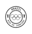 sign of the olympic games in rio de janeiro vector image