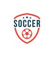 soccer club logo template design vector image vector image