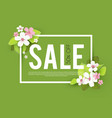 spring sale seasonal offer poster template vector image