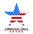 star flag usa memorial day vector image vector image