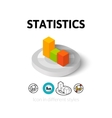 Statistics icon in different style vector image vector image