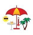 summer vector icons vector image vector image