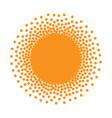 sun icon halftone sunny orange circle vector image vector image