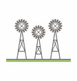 three windmill vector image