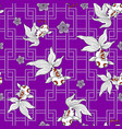 traditionally goldfish pattern vector image vector image