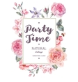 Vertical frame card with pink blooming