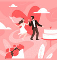 wedding couple concept marriage ceremony groom vector image