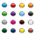 Blank round web buttons icons set cartoon style vector image