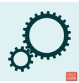 Gears icon isolated vector image