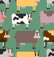 Cow seamless pattern Background of animals Herd of vector image