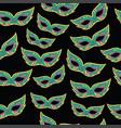 mardi gras masks seamless pattern cartoon doodle vector image