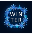 winter poster template vector image