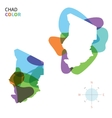 Abstract color map of Chad vector image vector image
