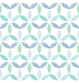 Abstract textile blue green leaves seamless vector image vector image