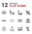 adapter icons vector image vector image