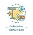 add amenities concept icon vector image vector image