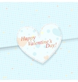 Blue paper postcard with heart shapes vector image vector image