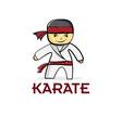 cartoon karate boy vector image vector image