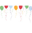 congratulations banner with confetti and balloons vector image vector image