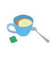 cup with tea drawing vector image vector image