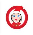 Cute girl Santa claus vector image