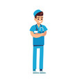 doctor medical staff male physician in uniform vector image