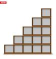empty rack with shelves or bookshelf vector image