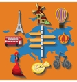 europe flat travel vector image vector image