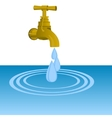 Faucet and water drops vector image