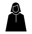 female judge icon simple style vector image vector image