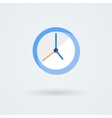 Flat clock icon Simple vector image vector image